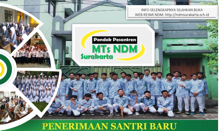 Pendaftaran Santri Baru – MTs NDM 2021/2022!